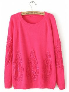 red long sleeve round neck pullover cotton sweater  $54.99 www.clothesway.net