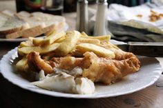 Real English Fish and Chips With Yorkshire Beer Batter. Photo by French Tart