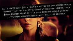 Stebekah!!!!!! But I honestly don't know who Damon would move on to... if they ever introduce a character that Damon could love as much as, if not more than, Elena then I swear I'm gonna be done being a Delena shipper, because the only reason I still ship them (besides Ian and Nina's on screen chemistry) is because I want Damon's happiness,  Elena can go die in a freaking hole for all I care.