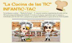 """La Cocina de las TIC""  INFANTIC-TAC Software Libre, New Technology, Blog, Family Guy, Movie Posters, Character, Feliz Halloween, Chefs, Augmented Reality"