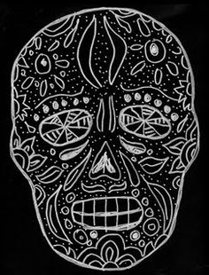 Fall Art Projects, Projects For Kids, Drawing Projects, Class Projects, Hispanic Art, Scratchboard Art, 8th Grade Art, Day Of The Dead Skull, Scratch Art