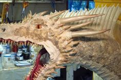 paper mache Dragon- with scales...at Gourmet Paper Mache