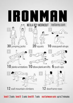 Ironman Workout | More nerdy workouts at this site!