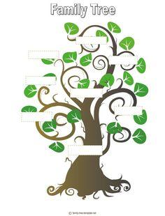 Family Tree Template For Kids genealog famili, family trees, templates ...