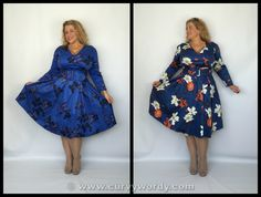 Lady Voluptuous by Lady V London Cosette Dress reviewed: http://www.curvywordy.com/2015/06/lady-v-london-lady-voluptuous-blue.html
