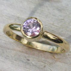 Lilia Nash Jewellery ethical pink sapphire ring in 18ct yellow or white gold. Price from £657.