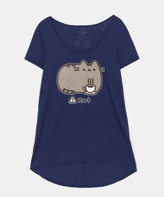 Pusheen Hot Coffee lounge tunic (womens)