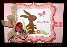 Busy with the Cricky: Bunny Rabbit Card using Cricut Kate's ABC's and Art Philosophy