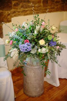 milk churn wedding flowers - Google Search