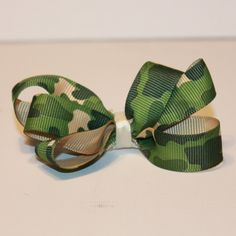 Camo Green Hair bow from Vinyl Expressions for $1.50