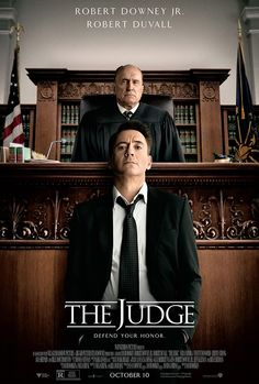 "NEW poster for ""The Judge,"" starring Robert Downey Jr. and Robert Duvall"