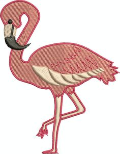 Flamingo  Digital embroidery design by EmbroideryDesignsBRN