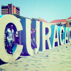 When touring Willemstad, make sure to stop in town and take a picture with this giant-sized Curacao sign.