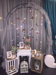 Montaje para decoración con fotos de la preboda de los novios. Boda de Jose María y Mercedes en el Carmen de Isabela (31 de Diciembre de 2015)