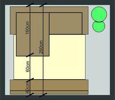 Como Escolher um Sofá com Chaise para Sala de Estar Bar Chart, Floor Plans, Home, Tv Room Small, 3 Seater Sofa, Daybed Room, Sleeper Couch, Homemade Home Decor, Interiors