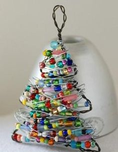 Easy homemade christmas gifts. Thought. To do this using green wire