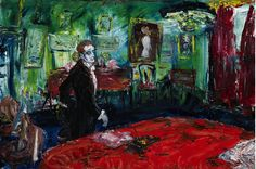 "kundst: ""Jack B. Yeats (1871-1957) About to Write a Letter, 1935. Oil on canvas, 61 x 91 cm. """