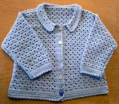 DIY – hæklet baby trøje   Tøse-streger Crochet For Kids, Crochet Baby, Knit Crochet, Baby Pullover, Shrug Cardigan, Diy Baby, Diy For Kids, Diy Clothes, Baby Knitting