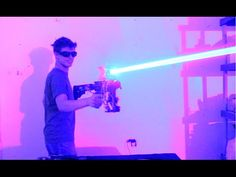 "Southern Illinois University science student Drake Anthony (aka ""DIY Laser Guy"") recently created a great laser shotgun. His futuristic shotgun Insanity Videos, Hamsters Video, Advanced Mathematics, Homemade Weapons, Tales From The Crypt, Southern Illinois, Science Student, The Future Is Now, Shotgun"