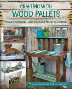 Autographed Book Giveaway! http://bec4-beyondthepicketfence.blogspot.com/2015/09/crafting-with-wood-pallets-giveaway.html