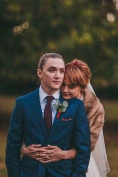 Bride in Fur Wrap | Brides.com