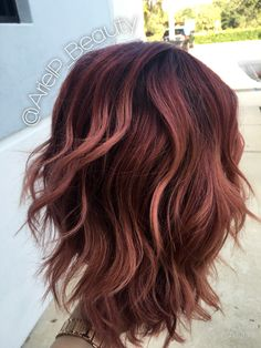 Colormelt/balayage/baliage/ombre/pink/purple/plum/colored hair/color/layers/medium Brown Hair Pink Tips, Brown Hair Rose Gold Highlights, Rose Gold Brown Hair, Amber Rose Hair, Rose Gold Ombre, Color Highlights, Fall Hair Highlights, Pink Brown, Black Hair
