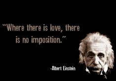 Albert Einstein quotes love