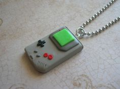 Nintendo gameboy  necklace by rudeandreckless on Etsy, $16.00