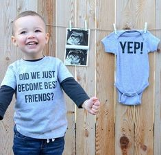 "PERFECT pregnancy announcement, Funny ""stepbrothers"" shirts. Great for second baby. Also available in mommy or daddy + little sizes. #pregnancyannouncment #preggo #secondbaby #bigbro"