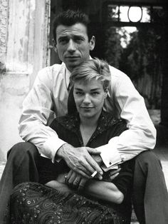 Yves Montand et Simone Signoret Married in 1951 until her death in 1985.
