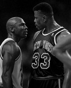 Michael Jordan and Patrick Ewing