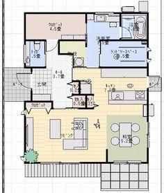 第一回打ち合わせ 間取りがきれいに!そして県民ルールに阻まれる | ゆんなのひとり言withおうちブログ House Plans, Floor Plans, House Design, Diy Crafts, Flooring, How To Plan, With, Interior, Image