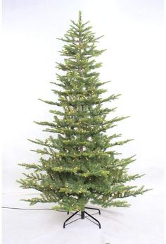Lark Manor Aspen 7.5' Green Fir Artificial Christmas Tree with 700 Warm White Lights with Stand