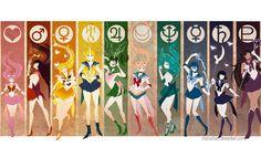 Sailor Senshi Simplify by JocelynAda.deviantart.com on @deviantART