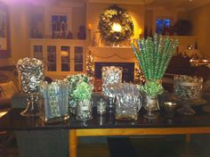 Christmas candy bar for guests ~