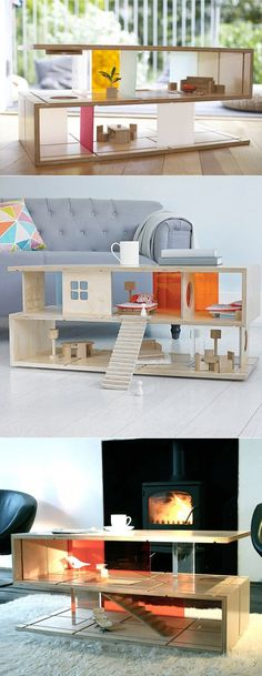 20 Of The Most Unique Desk and Table Designs Ever- 15 Doll House Coffee Table