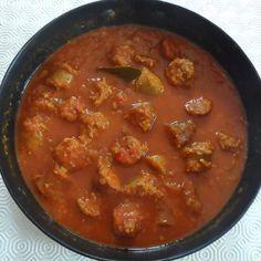 Recette Rougail saucisses de la réunion par bellefleur - recette de la catégorie Plat principal - divers