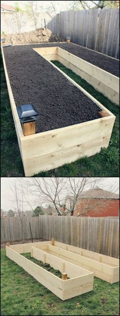 12 Well Designed Easy Access Raised Garden Beds Raised garden beds are easy on your back and will give your plants good drainage and generally better soil quality. By building this U-shaped garden bed, you'll also Dream Garden, Home And Garden, Family Garden, Garden Boxes, Garden Planters, Fence Garden, Diy Garden Box, Diy Fence, Veg Garden