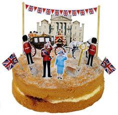 Queen Elizabeth Diamond Jubilee Pop Out Cake Toppers