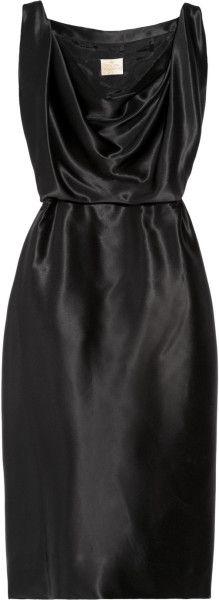 Savannah Silk-satin Dress - Lyst