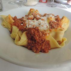 #Tortelloni di zucca en la #Trattoria Albina, #Modena - Instagram by @Magalí Pizarro