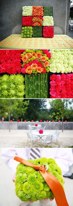 Sweet bright blooms add pops of color to any wedding! Bella Signature Design and Life Mosaics Photography