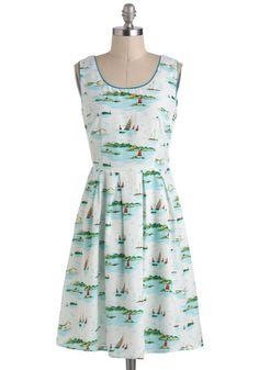 Floats Your Sailboat Dress, #ModCloth