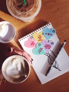 Hint-hint!  Heart-shaped Starbucks gift cards for your Valentine's Day.