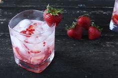 Strawberries & Cream Cocktail - #drinks #beverage #recipe #recipes #drinkrecipe #MyBSisBoss