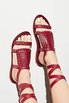 Free People Andies Bohemian Wrap Sandal Gladiator Sandals, Leather Sandals,  Flat Sandals, Huaraches 79ccf630b0d
