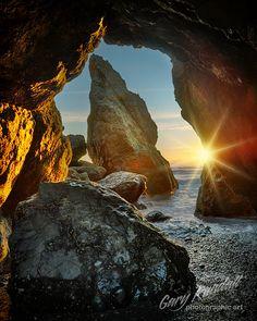 Sea cave near Ruby Beach, Olympic Peninsula, Washington.