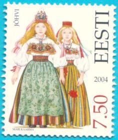 All* Estonian stamps: Estonian National Costumes.