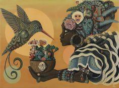 Fantasy Meets Folk Art: Afro-Caribbean Inspired Paintings by Paul Lewin African American Art, African Art, Black Women Art, Black Art, Arte Tribal, Afro Punk, Arte Popular, Illustrations, The Villain