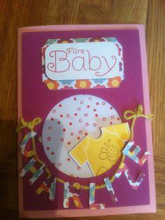 """Babykarte  mit Stampin up Sets """"Geschenk deiner Wahl"""" und """"Something for Baby"""""""
